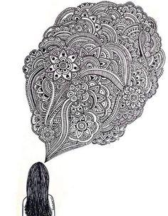 Dani Hoyos art black and white