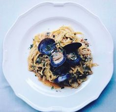 EATS I Tagliolini pasta with clams, leeks, and chile from Nico Osteria. Photo: @312food