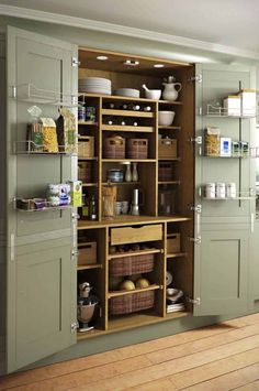 Magnificent Traditional Kitchen by Yorkshire And The Humber Kitchen Designers & Remodelers Holme Design The post 10 Kitchen Pantry Ideas for Your Home appeared first on Interior Designs . Kitchen Pantry Design, Kitchen Organization, New Kitchen, Kitchen Decor, Kitchen Ideas, Kitchen Hacks, Organization Ideas, Smart Kitchen, Awesome Kitchen