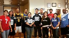 Cerritos Ambassadors with their sports jersey #swagger. #fremontcollege #dodgers #kings #lakers #clippers #angels #studentambassadors #fcambassadors