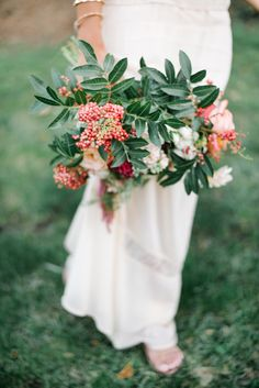 Bohemian Chic An Engagement In Two Parts Hand BouquetSpring GreenGreen WeddingFloral