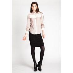 Schnittmuster: Wenona Shirt & Shirt Dress - als Bluse mit Kontrasteinsatz