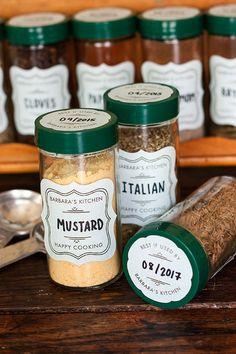 Custom Spice Jar Labels #mothersday #gift #kitchen