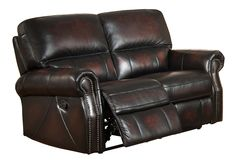 Features: -Cushion: Pocket coil seat cushions feature a foam core double wrapped with hollow fill fiber as well as high resiliency polyurethane foam encased in bonded layers of softer polyester fiber Double Recliner Loveseat, Leather Reclining Loveseat, Leather Recliner, Leather Sofa, Room Paint Colors, Paint Colors For Living Room, Living Room Grey, Cowhide Furniture, Living Room Remodel