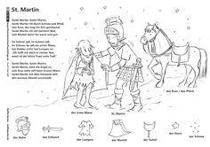 Download als PDF: Durch das Jahr – Sankt Martin Legende Lied – Becker