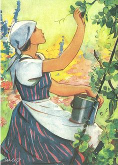 Martta Wendelin was a Finnish artist whose work was widely used to illustrate fairy tales and books, postcards, school books, magazine and book covers. Fields In Arts, Art Nouveau, Girl Face Drawing, Inspiration Art, Children's Book Illustration, Retro Illustrations, European History, Pictures To Draw, Christmas Art