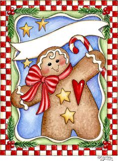 GINGERBREAD Man - area for card sentiment