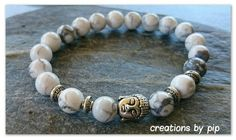 Check out this item in my Etsy shop https://www.etsy.com/uk/listing/253930374/white-turquoise-buddha-bracelet