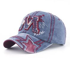 High Quality Summer& Autumn Casual Cotton Women And Men M Letter Embroidery Snapback Baseball Caps Hats B280
