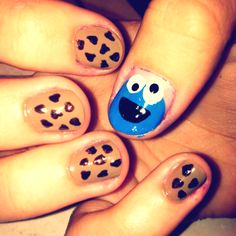 Cookie Monster nails... 8D