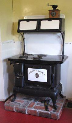 Antique Wood Coal Gas Cook Stove Vintage Stoves
