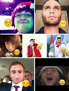 Team Crafted as emojis Adam's face though omg