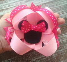 Check out this item in my Etsy shop https://www.etsy.com/listing/525935713/minnie-mouse-boutique-bow