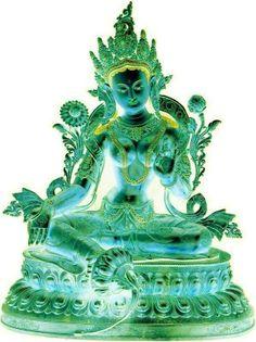 Tara Verde / Green ~;~ Tara Om Tare Tuttare Ture Soha ~;~ Meaning of Tara mantra ~ Om Tare Tu Tare Ture  Soha ~   Om: = Essence of enlightened body; speech; and mind  Tare: =  swiftly liberating all living beings from samsara  Tuttare: = from all fears  Ture: = from all sickness  Soha/svaha: = firmly establish