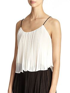 if you have any boobs what so ever you could not pull this off  ABS - Pleated Crop Camisole