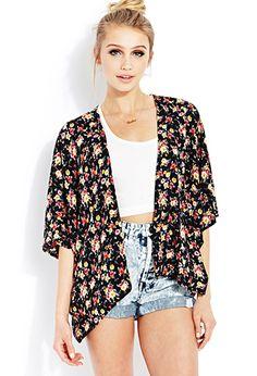 Easy Floral Kimono | FOREVER21 - 2000087795