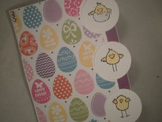 Handmade Easter Card, Chicks, Easter Chicks, Easter Card, Kids Easter Card, Easter Eggs, Colorful Card