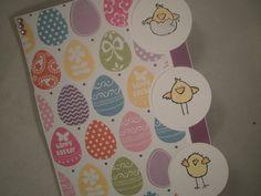 Handmade Easter Card, Chicks, Easter Chicks, Easter Card, Kids Easter Card, Easter Eggs, Colorful Card