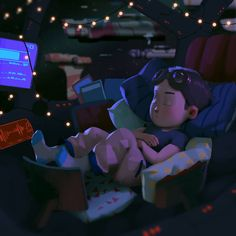 When I was a kid I think my ultimate fantasy was a comfy spaceship. I was making this image for Comic Tutorial, Animated Cartoon Characters, Color Script, Ship Drawing, Keys Art, Learn Art, Cg Art, Environment Concept Art, Digital Art Girl