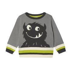 Boy's grey knitted monster jumper - Kids - Debenhams.com