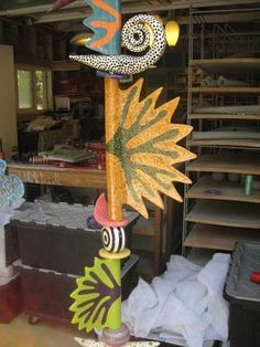 More abstract totems... Ideas for the butterfly garden