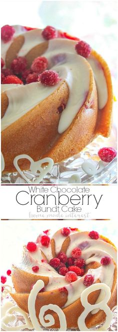 A white chocolate cranberry cake made in a gorgeous heritage bundt pan. This white chocolate cranberry cake is a quick and easy cake recipe made from boxed cake mix. Add in a few extra ingredients and you have a super moist and delicious cake! Brunch, Cake Mix Recipes, Dessert Recipes, Just Desserts, Delicious Desserts, Yummy Food, Cranberry Dessert, Cupcake Cakes, Bundt Cakes