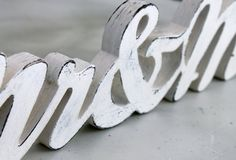 Wood Sign Mr & Mrs Wedding Photo Prop White Shabby by iTagStudios, $48.00