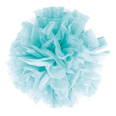 Pom poms made out of [plastic bags - not a bad idea