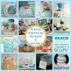 Just Beachy- 16 recipes, crafts, & DIY posts inspired by the sand & the sea, via thefrugalfoodiemama.com
