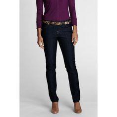 Lands' End Women's Regular Fit 1 Slim Leg Denim Jeans ($59) ❤ liked on Polyvore