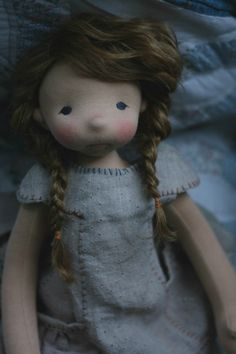 Aoife is a natural fiber art doll by Fig and Me.
