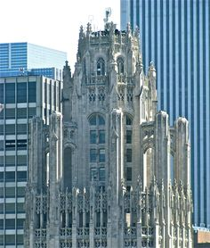 Top of the Tribune Tower, Chicago, IL