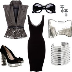 """Black and Grey"" by ionescu on Polyvore"