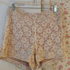 "Spotted while shopping on Poshmark: ""NWT Lace Shorts.""! #poshmark #fashion #shopping #style #Romeo & Juliet Couture #Pants"