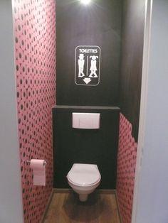 Le carrelage wc se met la couleur pour faire la d co met rouge and merlin - Carrelage toilette ...