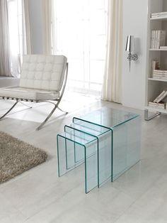 Juego Mesas Nido Diseño Moderno - Mesas Auxiliares Modernas - Muebles Modernos