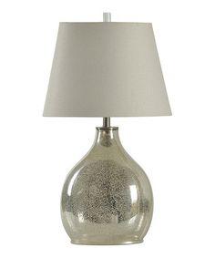"Love this Mercury Glass Table Lamp on #zulily! #zulilyfinds $80. 30"" tall. 100watt bulb"