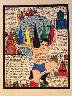 Outsider Folk Art Gallery | Outsider Art | Howard Finster | FIH016 | FIH037…