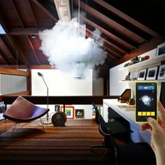 Nebula 12 - indoor lighting appliance that brings outside weather into our homes