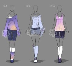 Some Outfit Adopts # 24 - sold by Nahemii-san Best Picture For fashion sketches basic For Your Taste Drawing Anime Clothes, Dress Drawing, Clothing Sketches, Dress Sketches, Fashion Design Drawings, Fashion Sketches, Drawing Fashion, Anime Outfits, Fashion Outfits