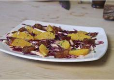 Red cabbage, parsnip, orange and date salad >