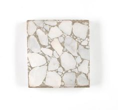 Terrazzo Sample - De Marco Bros, White Marble Fragments in Grey Cement, circa 1920s