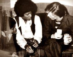 Michael e David Bowie <3