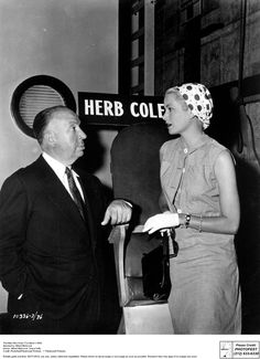 Grace Kelly with Alfred Hitchcock