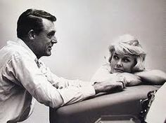 """Cary Grant & Doris Day while filming """"That Touch Of Mink"""". Love her expression!!"""