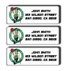 Boston Celtics NBA Basketball Team  Custom Return by DreamLabels, $5.00