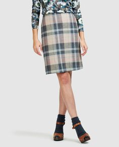 Check Wool Skirt #lauraashleystyle