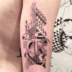 #mast #mastcora #bleunoir #bleunoirtattoo Bleu Noir Tattoo, Tatoos, Triangle, Instagram Posts