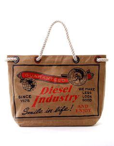 Maxi Shopper di carta vintage by Diesel