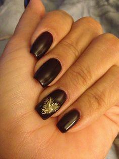 Cute Gold and Black Nail Designs Ideas